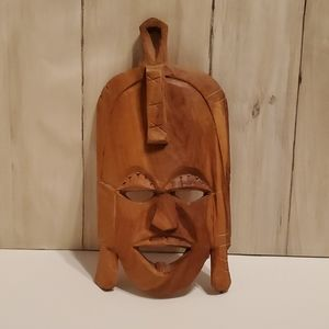 Hand carved wood mask, from Kenya